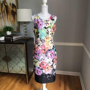 Gorgeous watercolor floral scuba dress